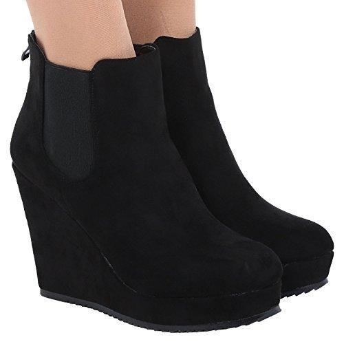 Oferta: 25.58€. Comprar Ofertas de ByPublicDemand Magda Mujer De Plataforma Zapato de Cuña botines - Negro 40 barato. ¡Mira las ofertas!