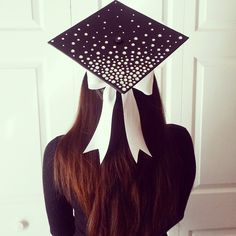 University of South Florida ombre rhinestone and bow graduation cap!