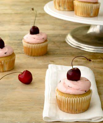 Cherry Almond Cupcakes!  http://jennysteffens.blogspot.com/2011/08/cherry-cupcakes-with-cherry-almond.html