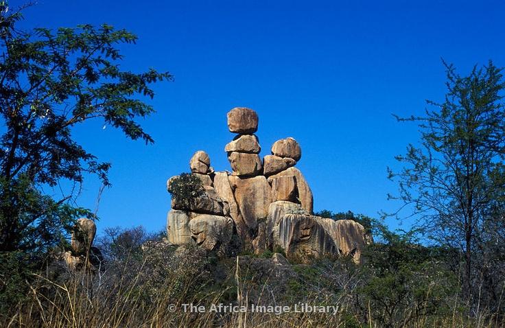 Balancing rocks, Matobo Hills, Matobo National Park, Zimbabwe