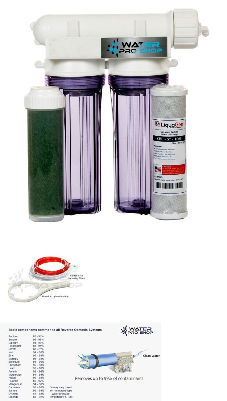 Reverse Osmosis and Deionization 77658: 3 Stage - Aquarium Reef Reverse Osmosis (Ro/Di) Water System - Usa - 100 Gpd BUY IT NOW ONLY: $99.99