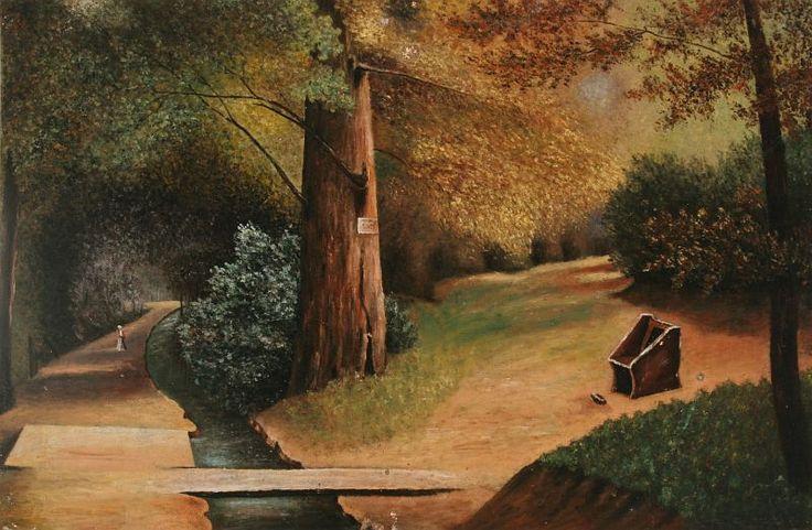 Csontváry Kosztka Tivadar - Parkrészlet (1891 körül) - Csontváry Kosztka Tivadar - Wikimedia Commons