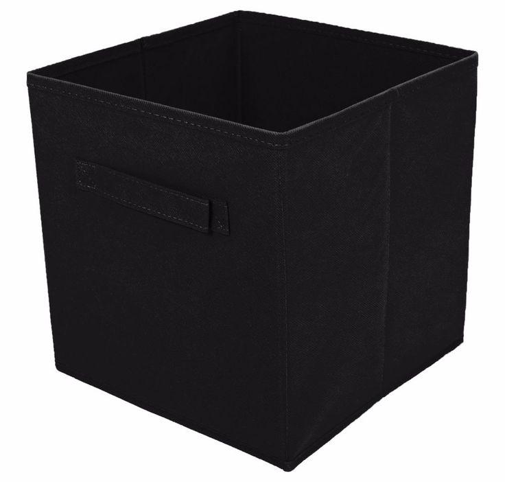 Tidy Living - 2PK Foldable Fabric Drawer (Black) #TidyLiving