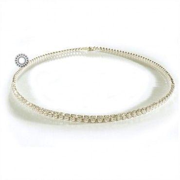 Απλό και πολύτιμο ακριβό κολιέ ριβιέρα ντεγκραντέ σε λευκόχρυσο 18 καρατίων με διαμάντια Brilliants βάρους 2.50ct | Κοσμήματα ΤΣΑΛΔΑΡΗΣ στο Χαλάνδρι #ριβιερα #διαμαντια #μπριγιαν #λευκοχρυσο #κολιε
