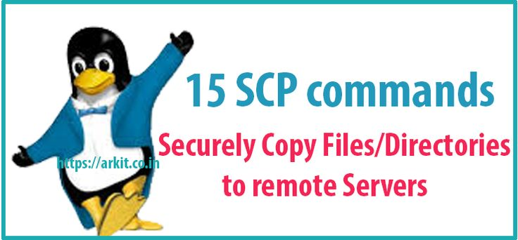 15 scp commands securely copy files to remote servers Linux