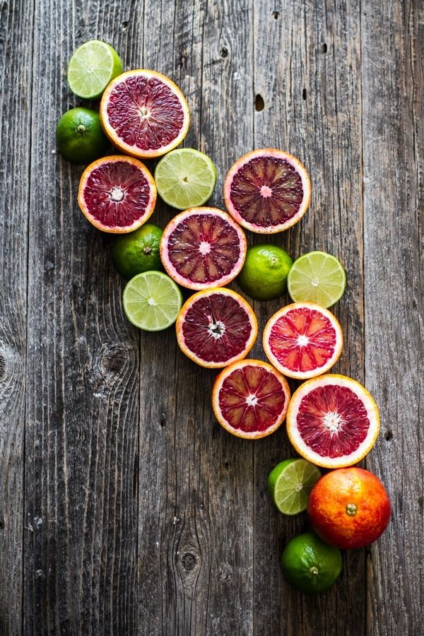 This picture stood out to me in a sea of other photos because of the beautiful color of the blood oranges.  The deep purple from the blood oranges and the green from the limes blends together beautifully and creates a stunning photograph.  Rustic backgrounds seem to be common in food photography and I can see why, as the wooden background helps make the food items stand out.  I definitely want to try this recipe.  This is a good example of food photography.
