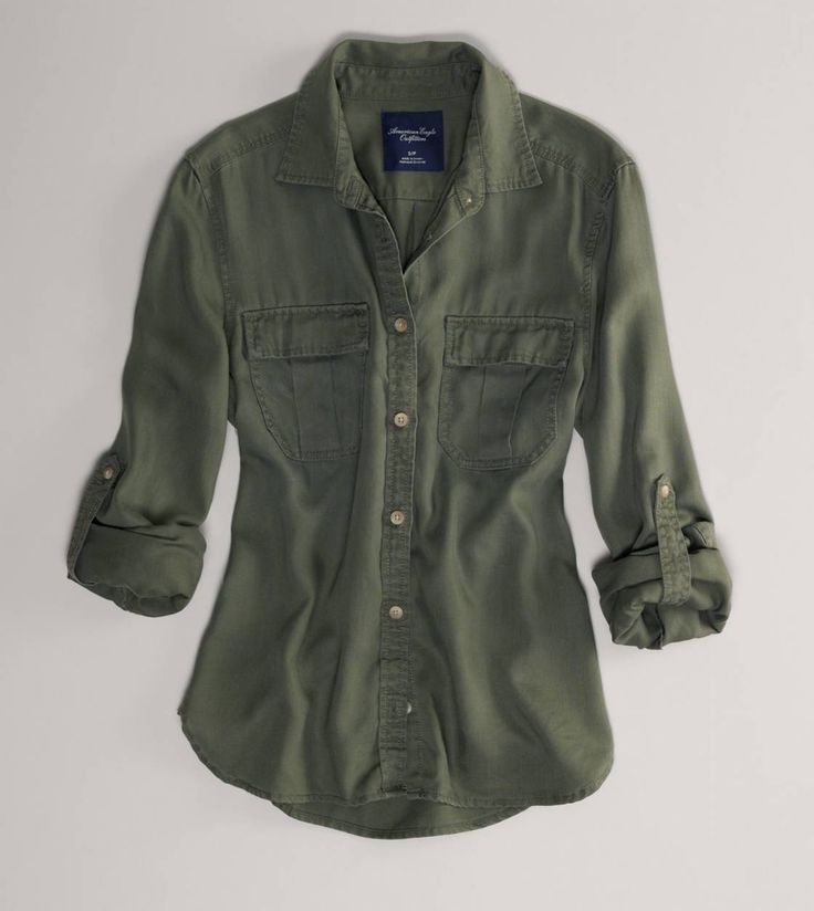 AE Girlfriend Shirt | 100% Lyocell is the best thing that's happened to chambray/utility shirts - so soft!