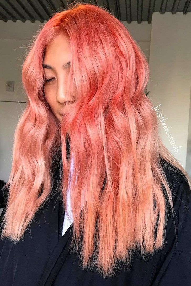 This Gorgeous New Salmon Hair Instagram Trend Might Make You Very Hungry