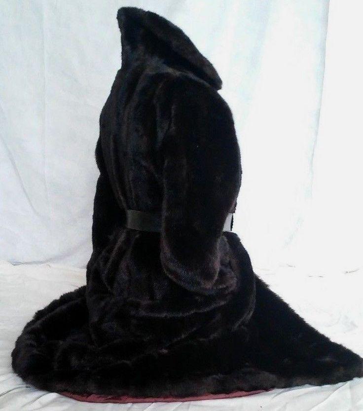 Womens MICHEL ALEXIS PARIS FAUX DARK BROWN MINK FUR LONG COAT SIZE XL #MichelAlexis #BasicCoat #coat #fauxfur #eBay #Fashion