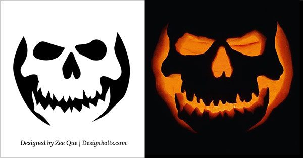 10 Free Halloween Scary & Cool Pumpkin Carving Stencils