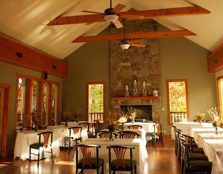 Garden reception room at Bluff Mountain Inn. Click here for more from http://bluffmountaininn.com