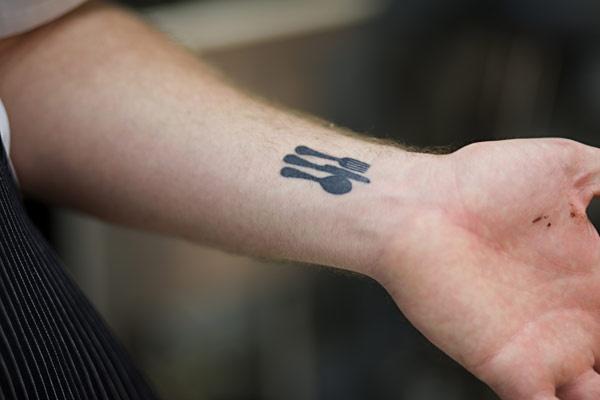 fork, knife, spoon tattoo