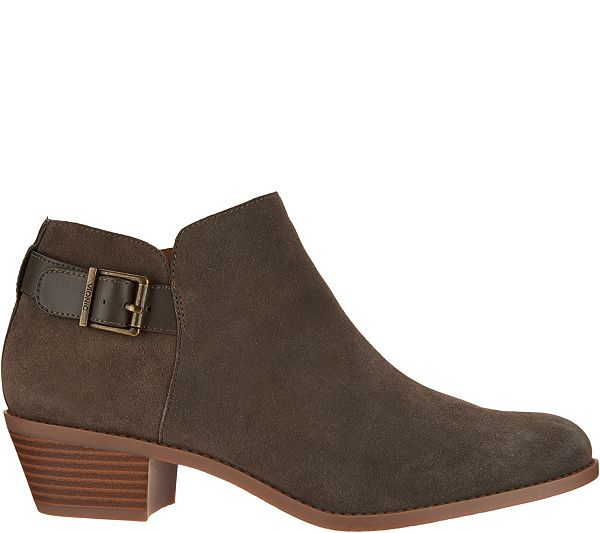 Vionic Ankle Boots With Buckle Millie Qvc Com In 2020 Boots