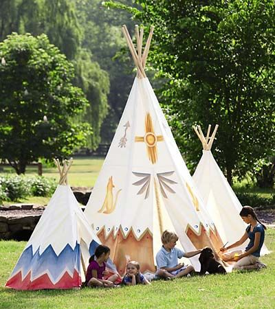 Kids: Kids Playrooms, Backyard Fun, Slumber Parties, Magic Cabins, Tent, Canvas Teepees, Plays Spaces, Cotton Canvas, Wooden Pole