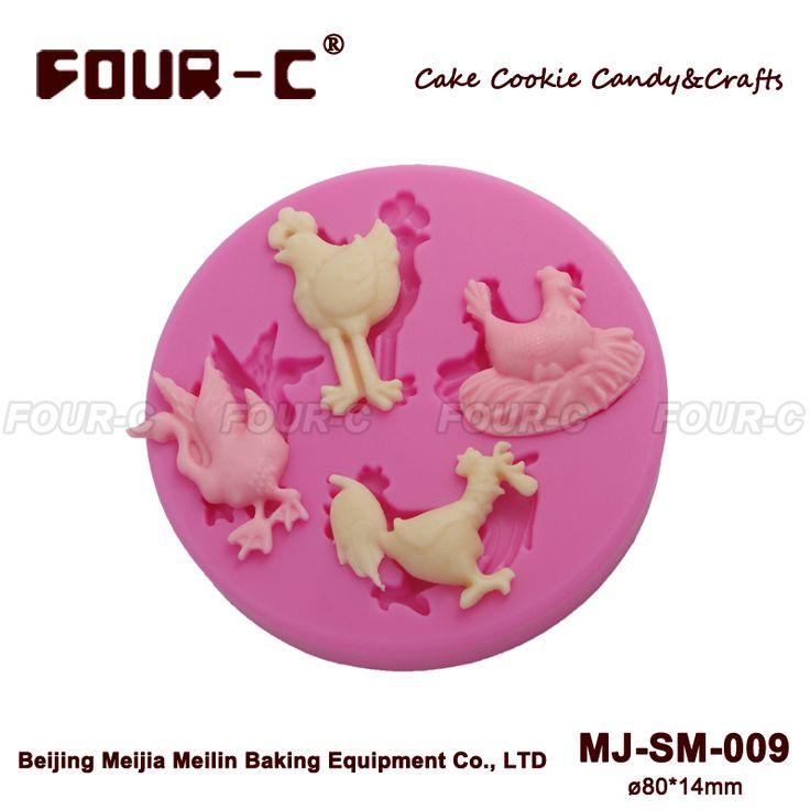 Silicone sugarcraft moule, Pâtisserie moule, Ferme oiseaux pastillage décoration mold gâteau outils de décoration moules en Silicone savon moule(China (Mainland))