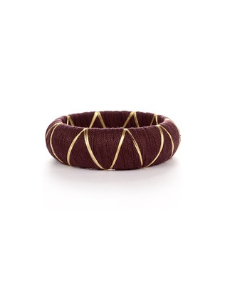 Brown And Golden Silk Thread Bangles | Rs. 240 | http://voylla.com