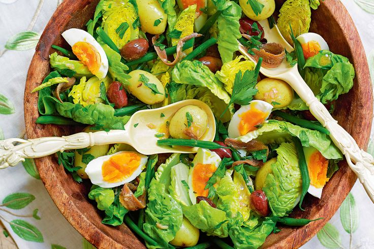 Perfect for celebrating, create this vintage French salad with its delicious mix of potato, egg and olives via @taste.com.au