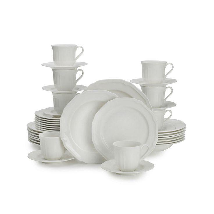 Mikasa 40 Piece Dinnerware Set Antique White   eBay