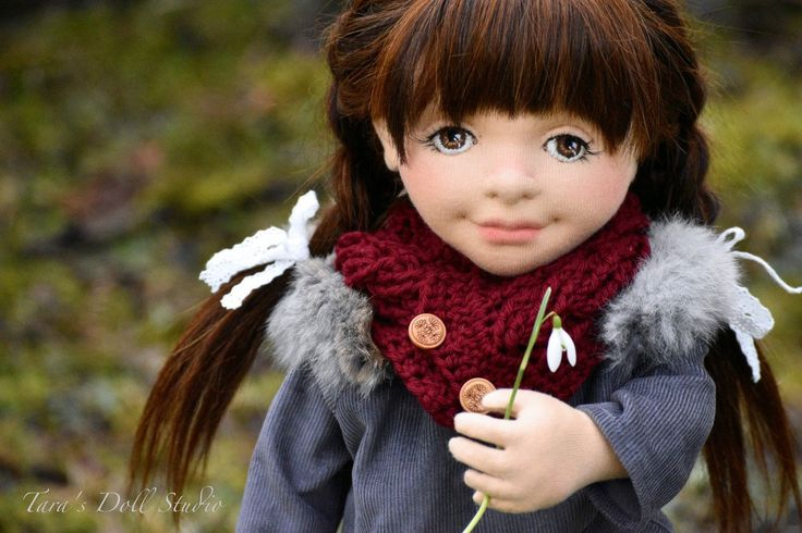 """Esmé"" 18"" OOAK Natural Fiber Art Doll by Tara's Doll Studio"