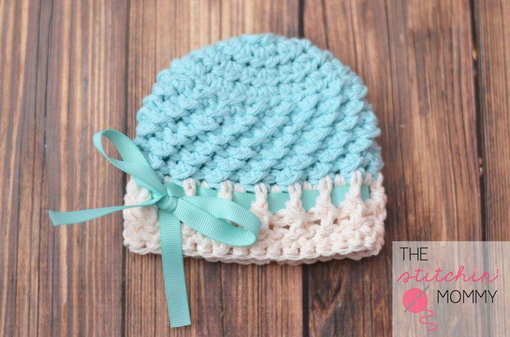 Textured Beanie - Sizes Preemie to 6-12 Months www.thestitchinmommy.com