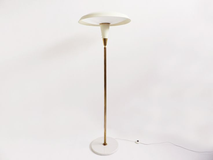 Vintage Mid-Century White Floor Lamp 1