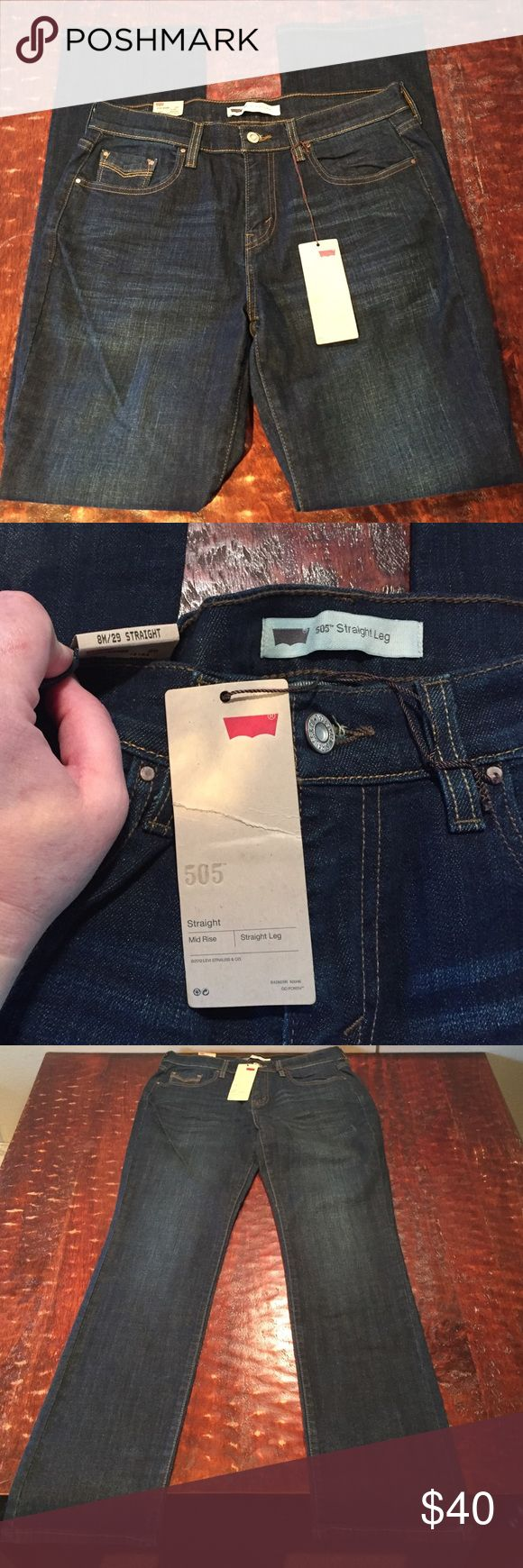 NWT Levis 505 Straight Leg Jean Size 8M/29 NWT Levi 505 Straight Leg Jean Size 8M/29. Comes from a Smoke Free/Feline Friendly Home. Any questions, just ask. Offers Always Welcome. Levi's Jeans Straight Leg