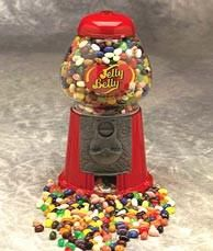 Buy this Jelly Belly Bean Machine which is a nostalgic trip to a simpler place and time, back to when jelly beans were a kids favorite treat!  Alone, or with the 20 flavor assortment of jelly beans, this will make a lovely gift for your favorite kid, young or old. Details:  Crafted from cast iron and glass 9 inch tall bean machine holds 24 oz of jelly beans.  Send one to your favorite kid, young or old, today! Ships in 4-5 Days.