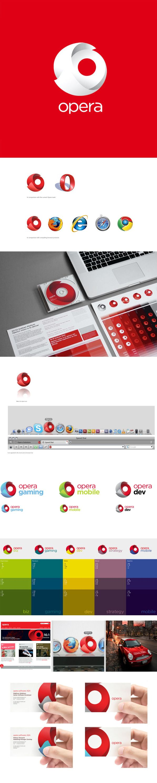 Opera Software Rebrand by Ken Olling