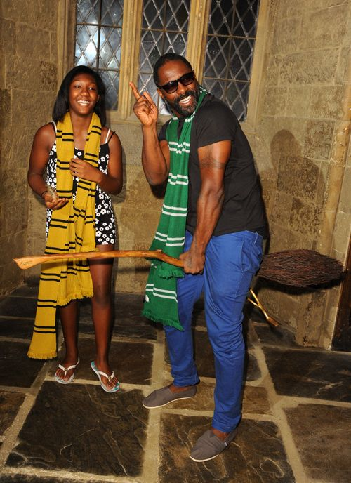"Idris Elba Takes Daughter Isan To Warner Brothers' Summer Screening Of ""Harry Potter"""