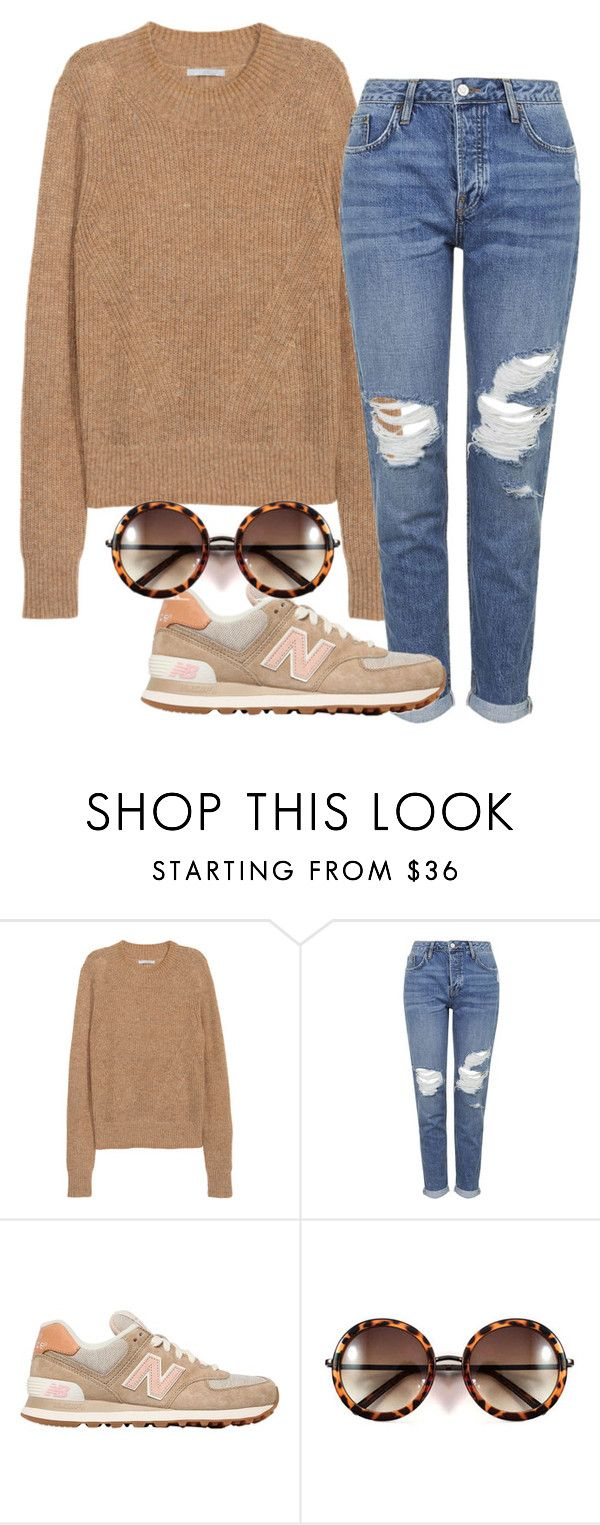 """208"" by andreamg356 ❤ liked on Polyvore featuring H&M, Topshop, New Balance, women's clothing, women, female, woman, misses and juniors"