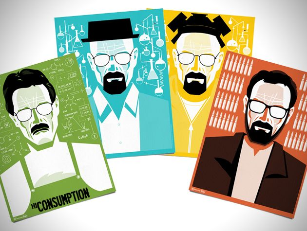 Mr. White Art Prints Celebrate Breaking Bad Series Finale