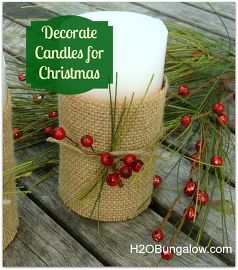 candle decorating ideas for christmas, christmas decorations, crafts, seasonal holiday decor, Decorate a pillar candle for instant holiday cheer