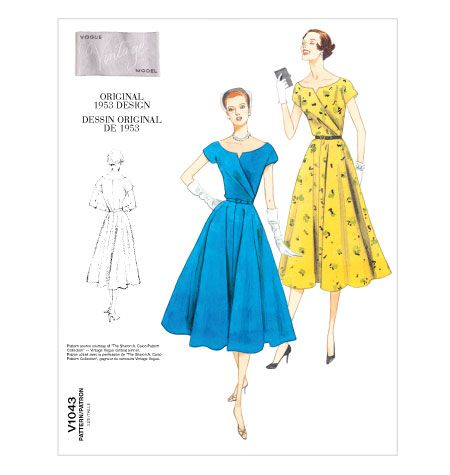 Buying this pattern to make in a red dress (with mini-white polka dots).  Love Vintage Vogue patterns!