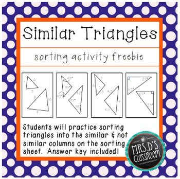 63 Best Similar Triangles Images On Pinterest Math Middle School