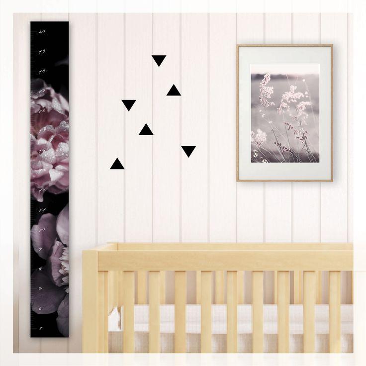 romantic rose height growth chart, scandi, modern, photography, scandinavian, beach, boho, canvas, wall decor, home decor, interior styling, home styling, kids bedroom, kids room