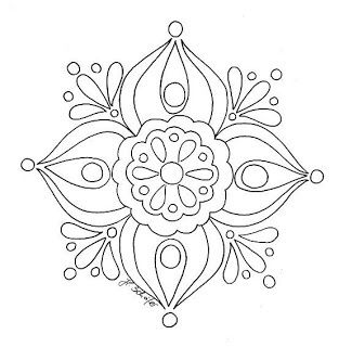 Simple mandala.....could bead embroider it   Craft Projects ...