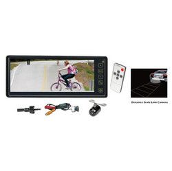 Rearview Backup Camera & Mirror Monitor System Waterproof Night Vision Cam 8.1'' Display Distance Scale Lines Universal Mount (Front/Rear Vehicle)