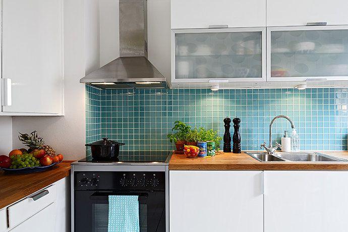 turkost kakel kök - Sök på Google | Ikea | Pinterest
