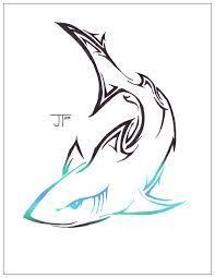 Výsledok vyhľadávania obrázkov pre dopyt blue tribal shark tattoo