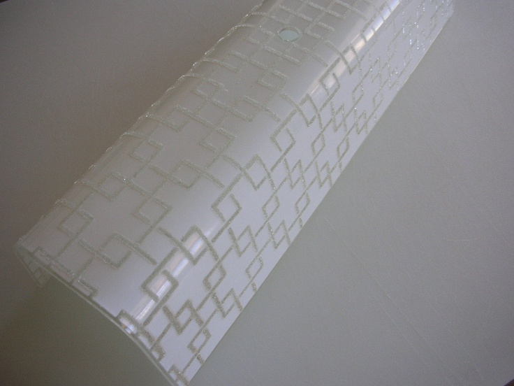 Mid Century Bathroom Light Fixture Geometric Textured Glass Shade Wall Sconce From The Back Part Of The Basement