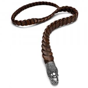 Cinturón Animalia de cuero y metal