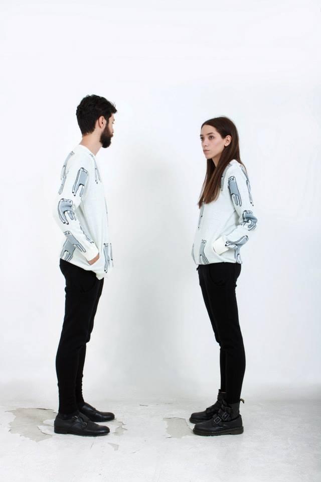 O u c h (White sweater)