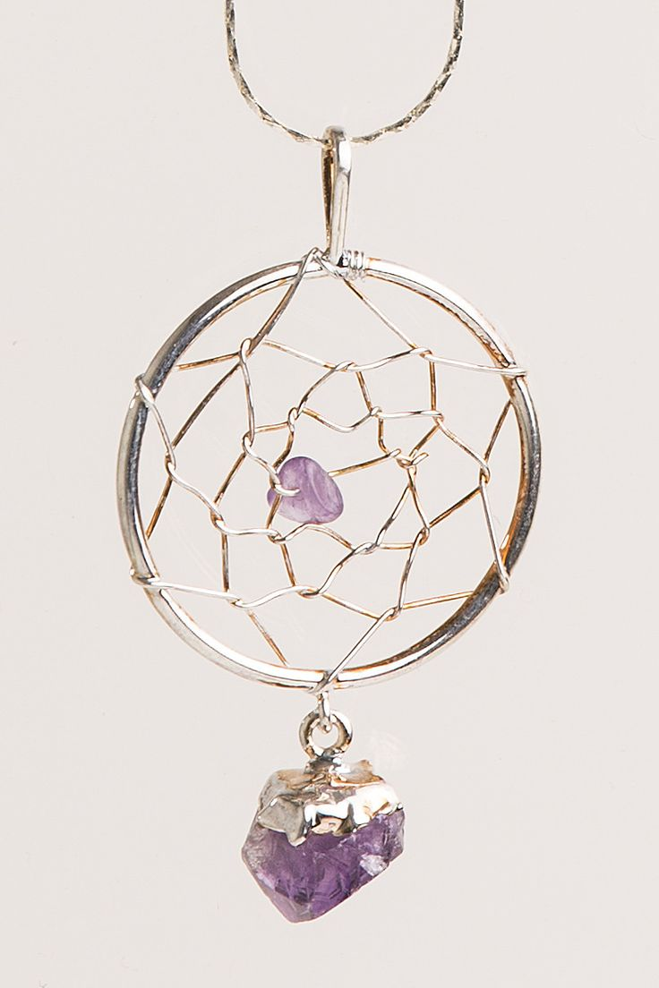 "Materials: Amethyst, Base or plated metals Weight: .1ozs Size-Measurement: 2 1/2""L X 1 1/2""W Crystal Joys has the Rocky Mountain region's best selection of over 1000 natural metaphysical healing stone"