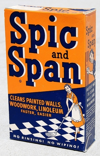 Vintage Spic and Span Cleaner Ad