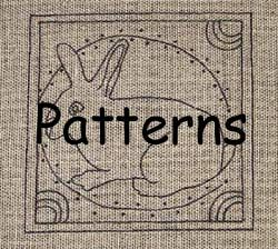 Free Primitive Craft Patterns Rug Hook Red Work Hooking Rugs
