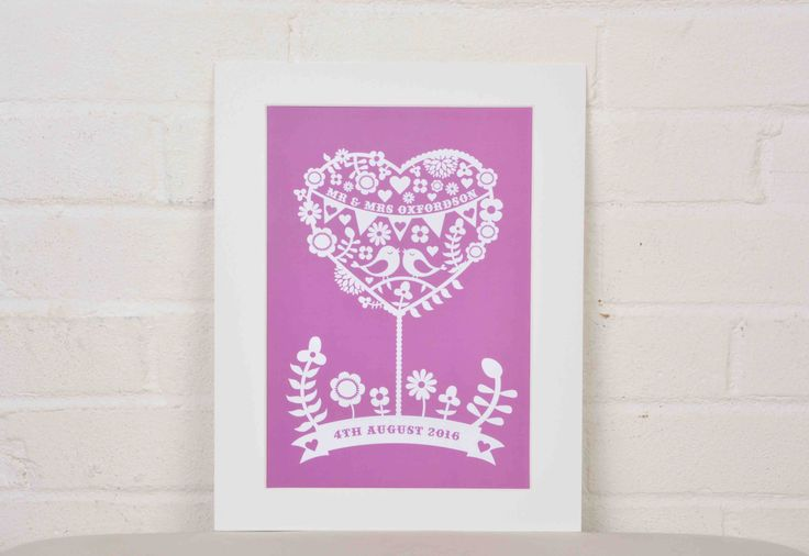Personalised Wedding Mr And Mrs Print – Love Tree