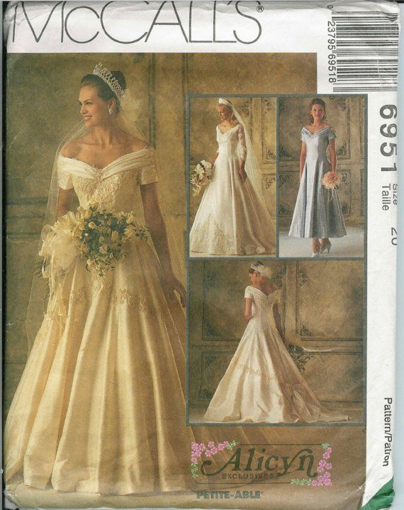 Mccalls 6951 sewing pattern women and petites wedding for Mccall wedding dress patterns
