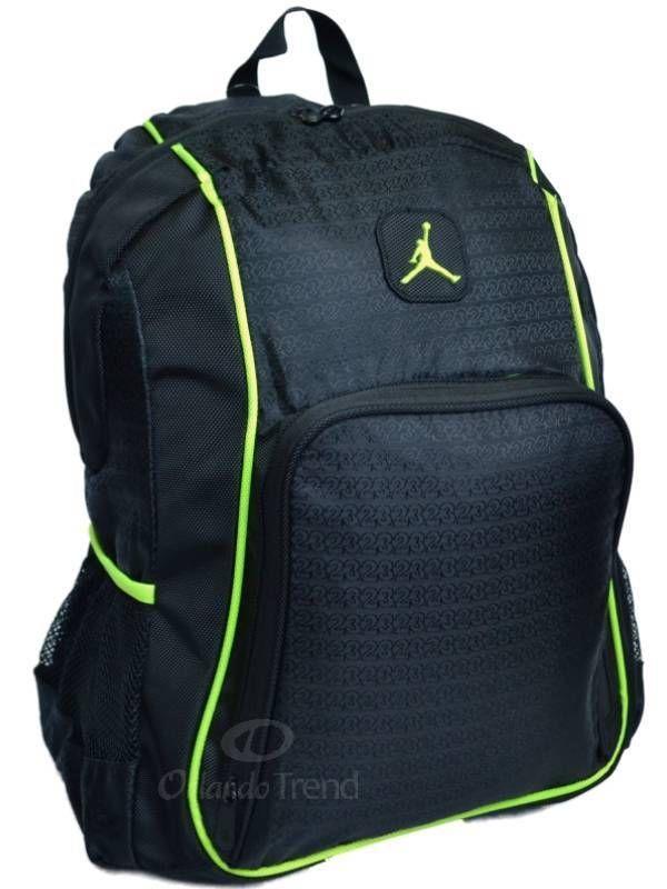 Black And Mint Green Jordan Backpack   ESCP a2a5097b1a