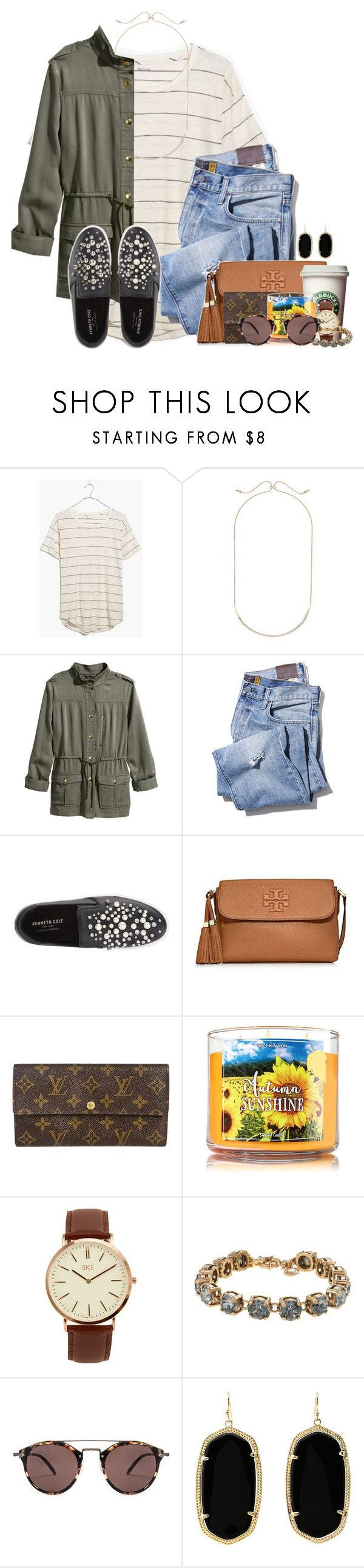 """""""She is clothed in strength and beauty..."""" by flroasburn ❤ liked on Polyvore featuring Madewell, Kendra Scott, H&M, Kenneth Cole, Tory Burch, Louis Vuitton, BKE, J.Crew and Oliver Peoples"""