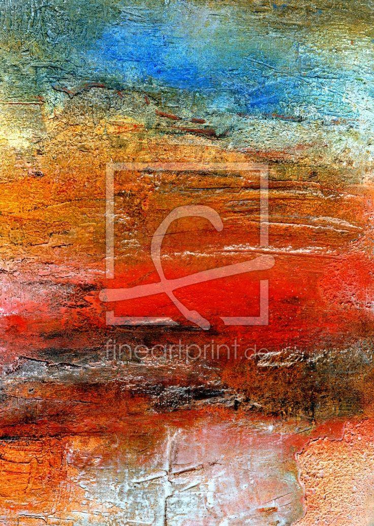34 best abstrakte Kunst Acryl Malerei Collagen Spachteltechnik - moderne kunst wohnzimmer